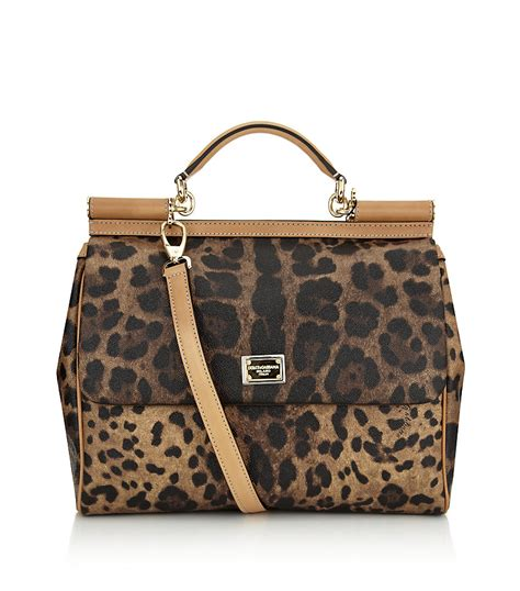 Dolce Gabbana Haircalf Tote by Dolce Gabbana Sicily Leopard Print Tote In Brown