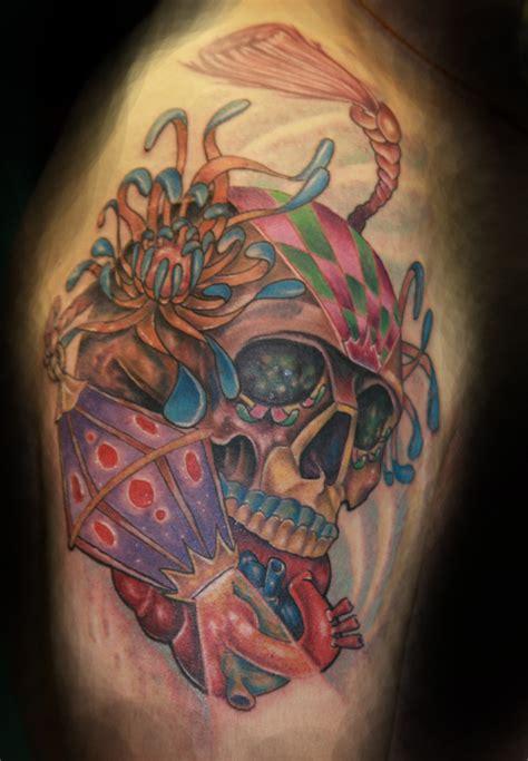 colored skull tattoo designs skull tattoos page 5