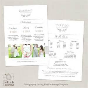 Wedding Photographer Price List Template Wedding Photography Pricing List Template 31