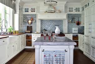 Painted Bakers Rack Blue White Kitchen White Cabinets White Marble Blue