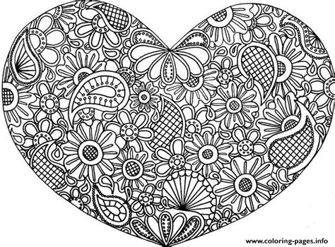 adult mandala heart love 2016 coloring pages printable