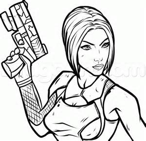 how to draw maya from borderlands step by step video