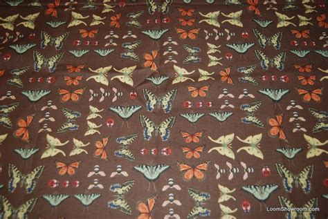 Butterfly Quilt Fabric by A236 Vintage Illustration Butterfly Insect Butterflies