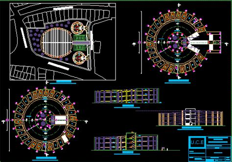 Parking Garage Ramp Design estacionamientos en dibujo de autocad bibliocad