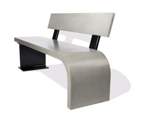 custom concrete benches custom made concrete bench with steel beam support by tao concrete custommade com