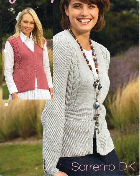 knitting pattern sweater cardigan cables worsted buttons womens cardigan gilet knitting pattern pdf ladies cable