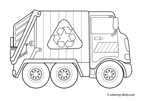 garbage trucks coloring page garbage truck coloring pages for kids transportation