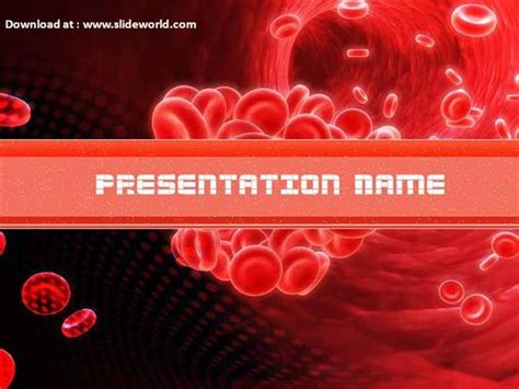 red blood cells powerpoint template backgrounds 02953 red blood cell powerpoint ppt templates ppt background