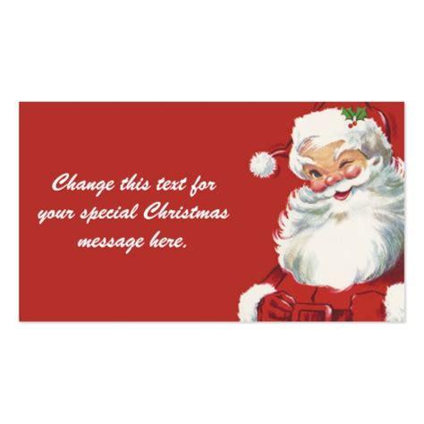 santa card template secret santa business card templates bizcardstudio