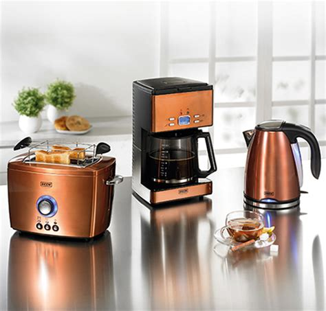 copper colored appliances beem nobilis copper style breakfast set