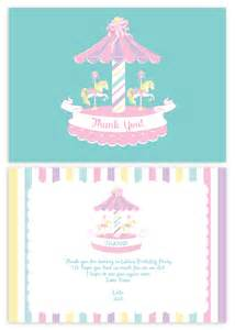 carousel personalised thank you cards custom printed australia s 1 supplies
