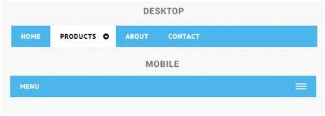 responsive layout menu to drop down 5 free responsive menus navigations for mobile