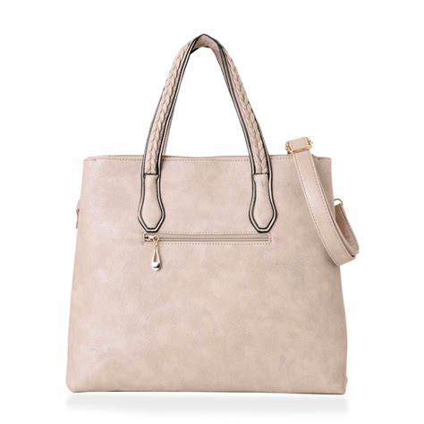 Ready Stock New Arrival Ch 3d Tote Bag Set 2 In 1 j francis style taupe leatherette handbag 15x11x4 5 in handbags fashion