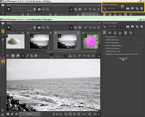 tutorial wordpress semplice guida a rawtherapee fotoritocco semplice con i profili di