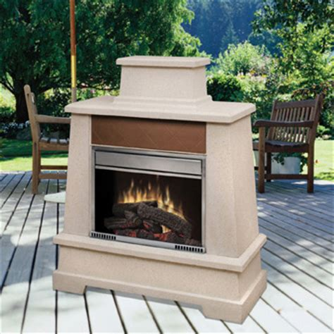dimplex outdoor fireplaces from outdoor living series