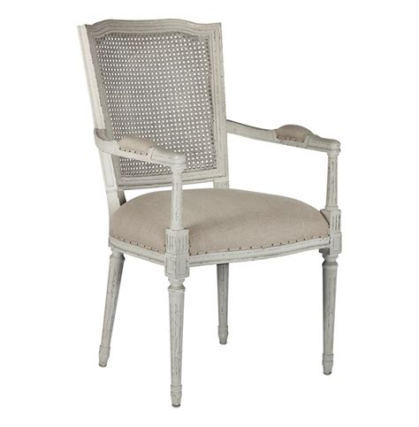 Caned Dining Chairs Country Ethan Painted Grey Caned Back Dining Chair Kathy Kuo Home