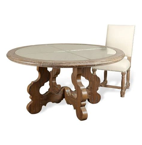 Chunky Wood Dining Table Winders Antique Mirror Chunky Carved Wood Dining Table Kathy Kuo Home