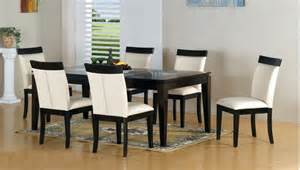 Black And White Dining Tables Minimalistic Black And White Dining Table Chairs Designs