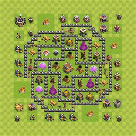 coc layout th 8 clash of clans base plan layout for trophies town hall