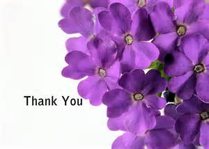 Of flowers with a thank you card thank you card powerpoint template
