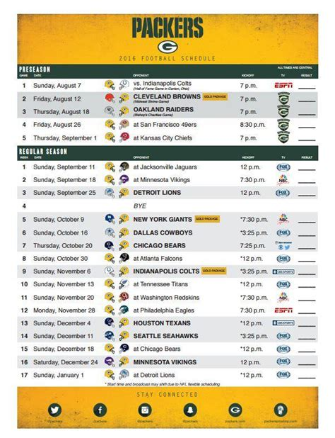 printable packers schedule green bay packers on twitter quot get your printable 2016