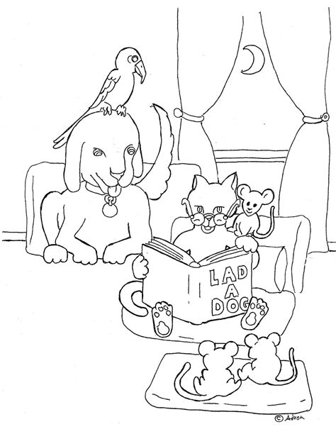 coloring pages of animals reading coloring pages of animals reading coloring best free