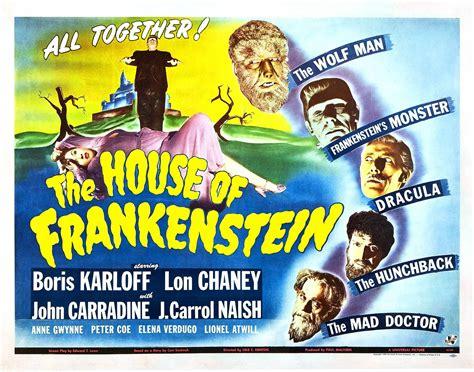house of frankenstein the house of frankenstein vintage 1940s movie posters