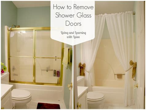 how to take out an old bathtub how to remove shower glass doors