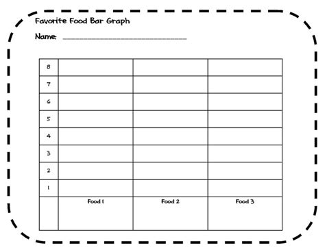 printable bar graphs for 1st grade favorite food bar graph activity 1st 4th grade keeping