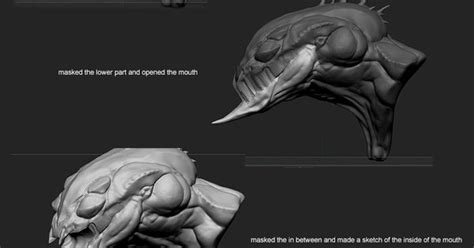 zbrush mouth tutorial link raf grassetti s breakdown on how he modeled the