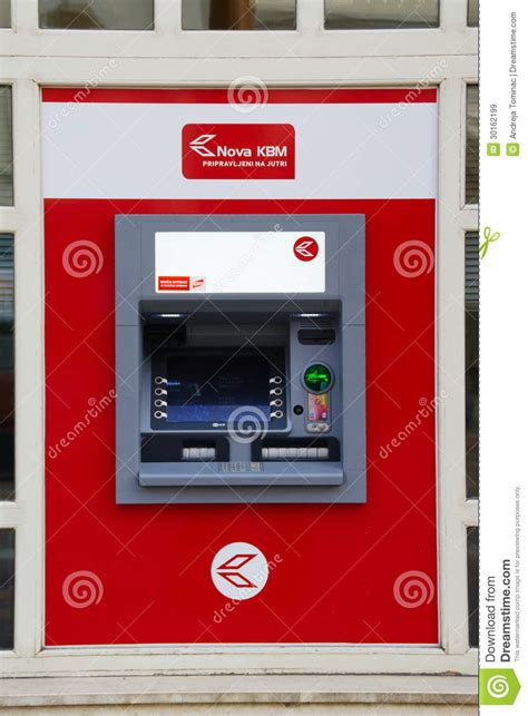 kreditna banka maribor kbm atm editorial stock image image 30162199