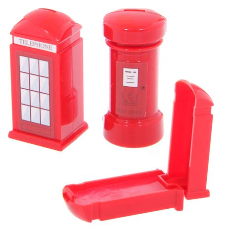 cassetta delle lettere inglese lucidalabbra lipgloss a forma di cabina telefonica inglese