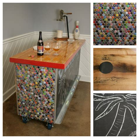 bottle cap bar using bottle cap collection