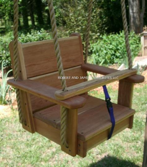 wooden toddler swing seat seat wood tree swings