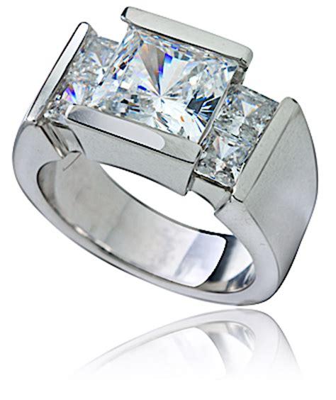 ritz 2 5 carat princess cut channel set cubic zirconia