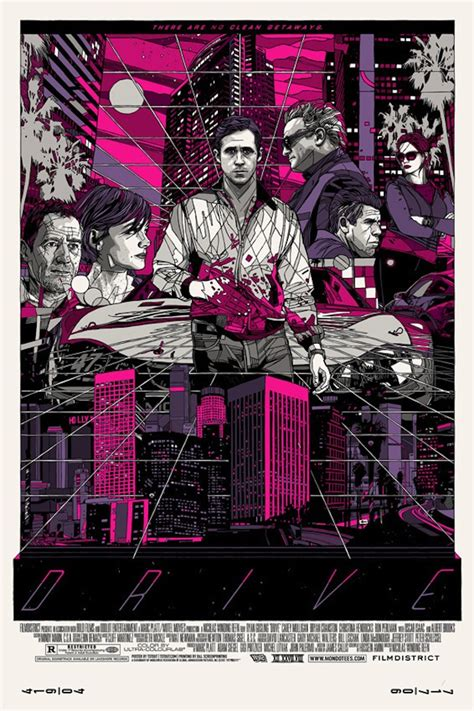 drive poster tyler stout s drive poster and album artwork for mondo