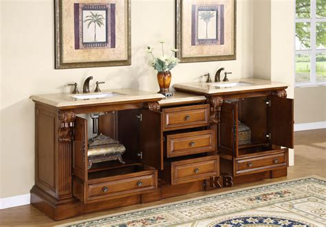 Undermount Kitchen Sink With Faucet Holes by 95 Inch Wide Cato Double Sink Vanity Very Large Vanity