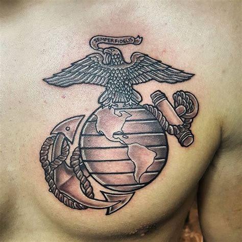 ega tattoo on chest us marines chest tattoo veteran ink