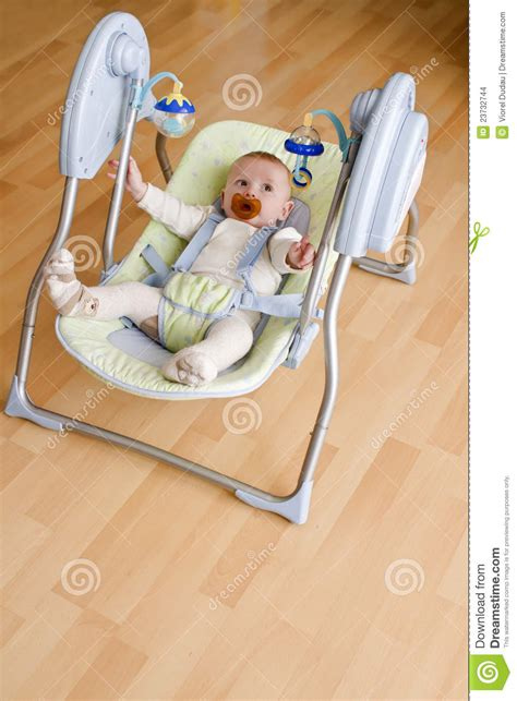 baby on a swing baby in electronic swing stock images image 23732744