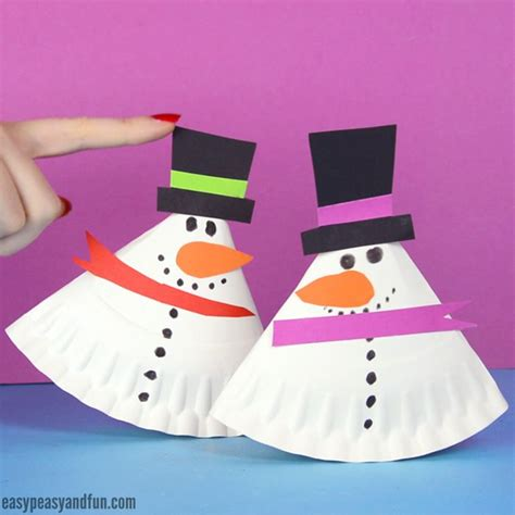 Paper Snowman Craft - 25 unique paper plate crafts ideas on paper