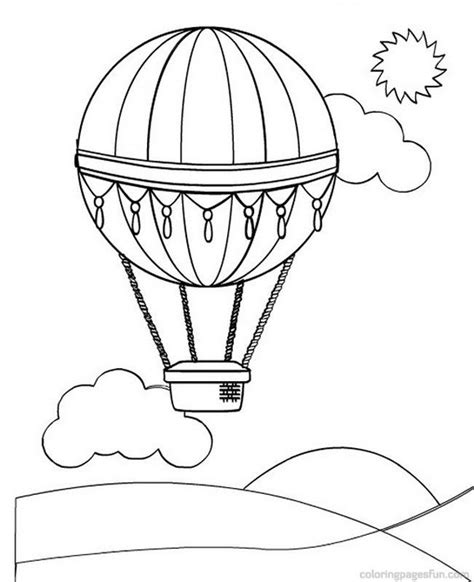 printable coloring pages air balloons air balloon template printable coloring home