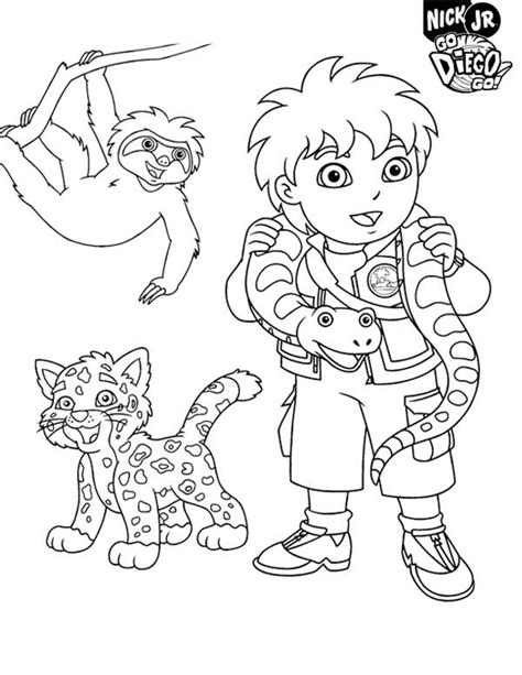 nick jr go diego go coloring pages free coloring pages of go team go