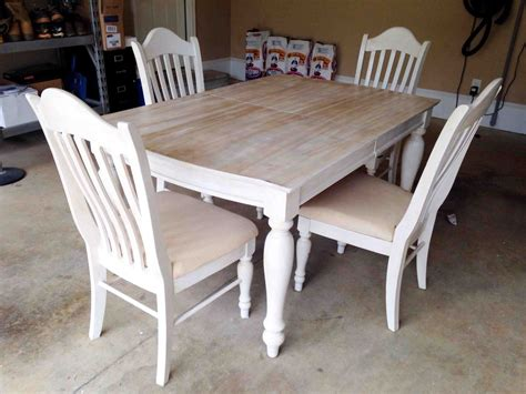 hometalk painting staining a kitchen table