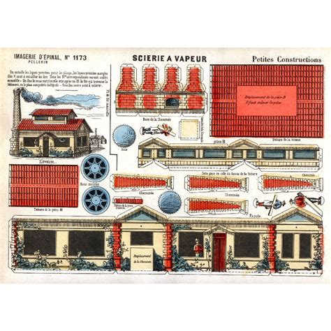 Cut Out And Make Paper Models - vintage paper model buildings printable sheet scans