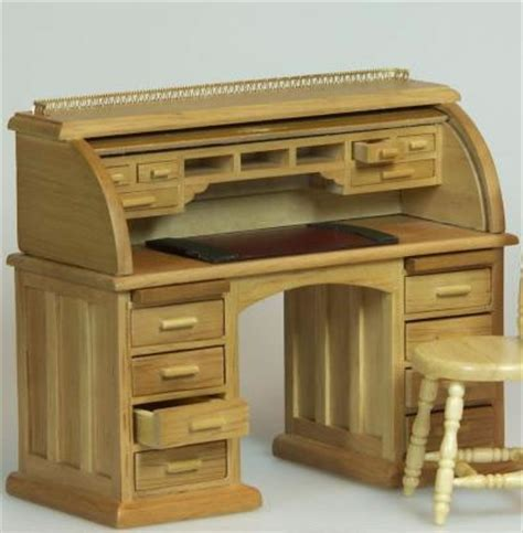 secr騁aire bureau dolls house miniature oak secretaire bureau xy750oak only