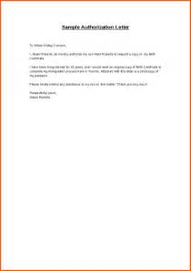 Authorization Request Letter Exle Write Authorization Letter Letter Of Recommendation