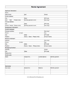Free Lease Agreement Template No Credit Card Rental Agreement Template