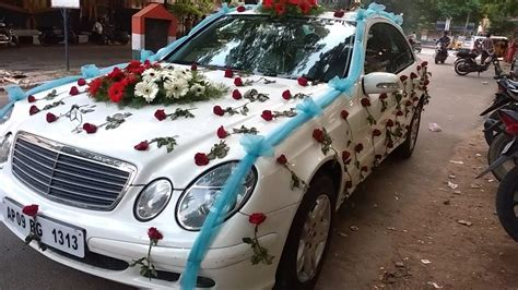 Wedding Car flowers decoration video   YouTube