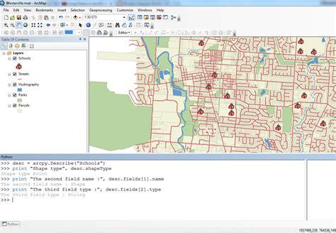 tutorial menggunakan arcgis 9 3 menilkan informasi dari sebuah feature class atau file