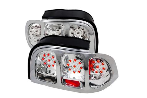 1994 mustang tail lights spec d tuning 174 ford mustang 1994 1998 chrome led tail lights